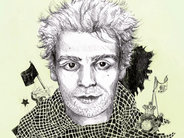 Drawing of Haukur Hilmarsson by Lóa Hjálmtýsdóttir